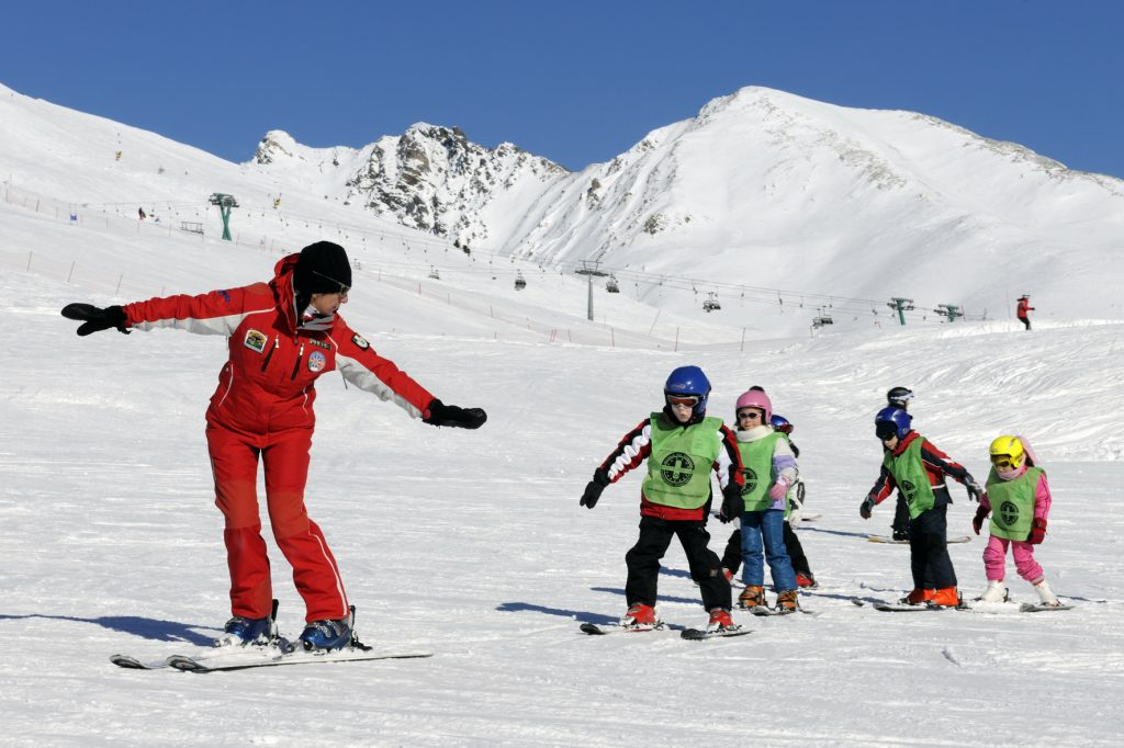 Image about passo tonale ponte di legno scoala ski
